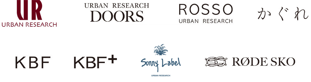 URBAN RESEARCH,URBAN RESEARCH ROSSO,URBAN RESEARCH DOORS,KBF,KBF+,Sonny Label,RODE SKO